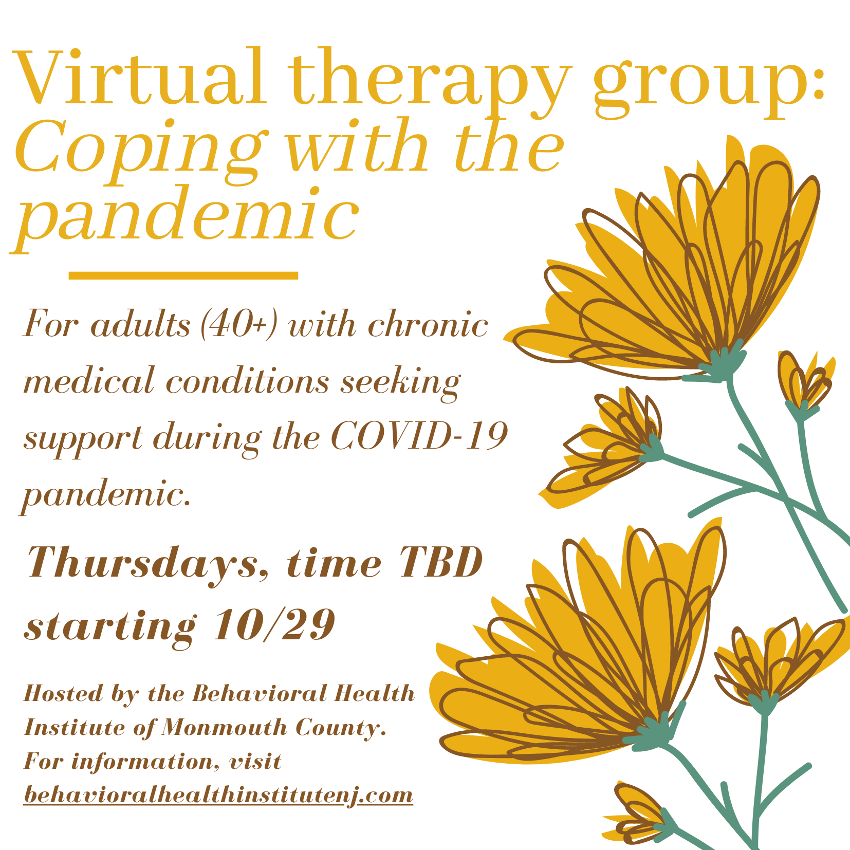 COVID group flyer PNG image